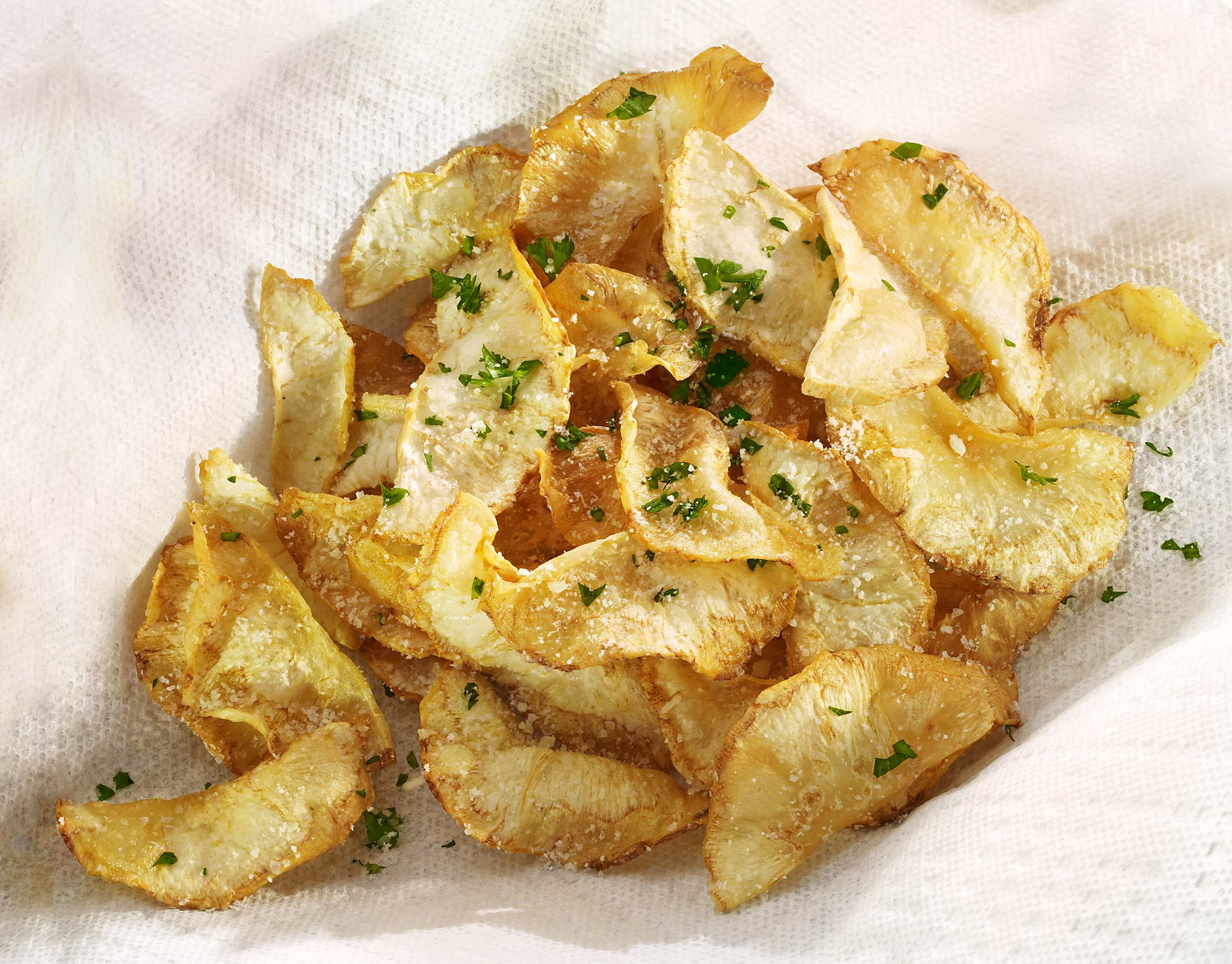 Glasshouse Assignment - David Bishop - Food Photography - Celeriac Chips