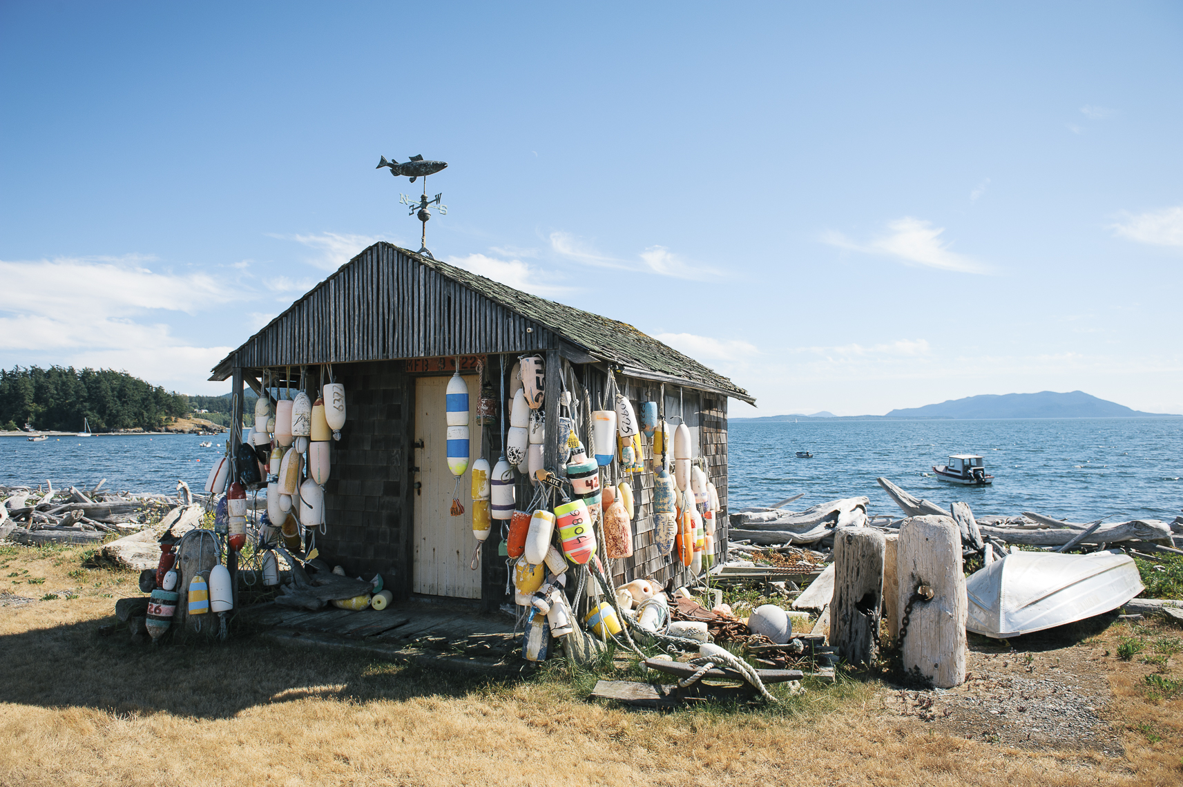 Fisherman house on Lummi Island, WA