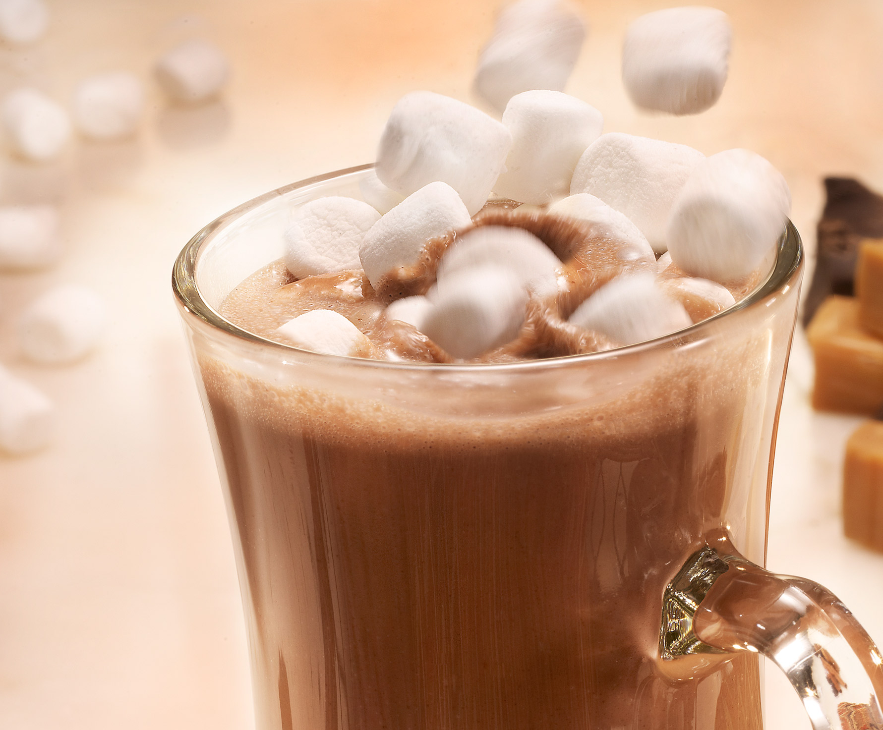 Glasshouse Assignment - David Bishop - Beverage Photography - Hot Chocholate with Marshmellos drop