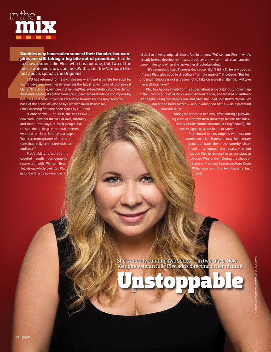 Glasshouse Assignment - Christina Gandolfo - Emmy Magazine - Julie Plec