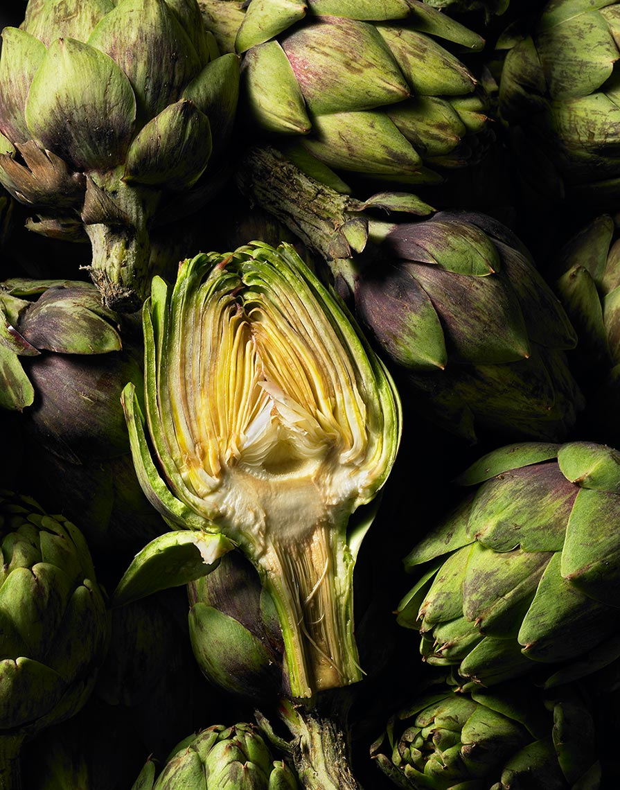 Glasshouse Assignment - Kang Kim - Food Photography - Artichokes