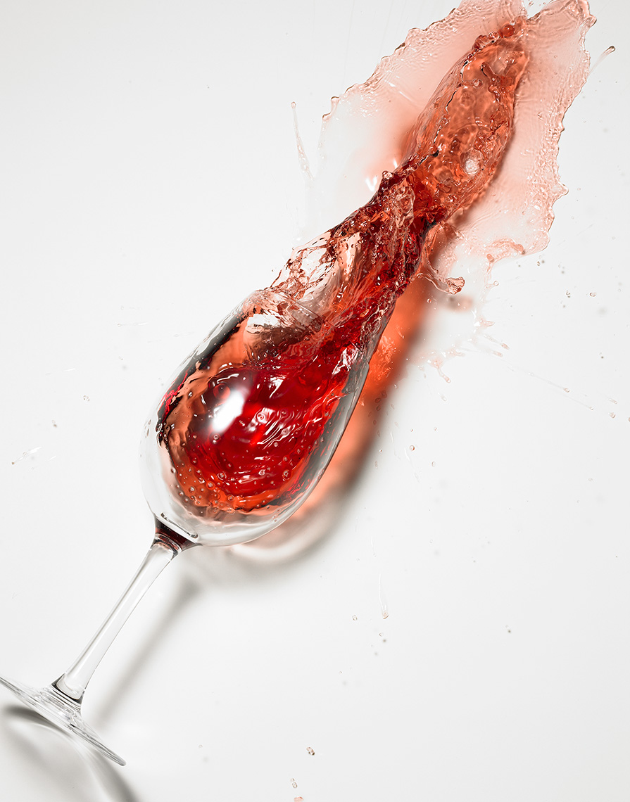 Glasshouse Assignment - Kang Kim - Food Photography - Wine Spill