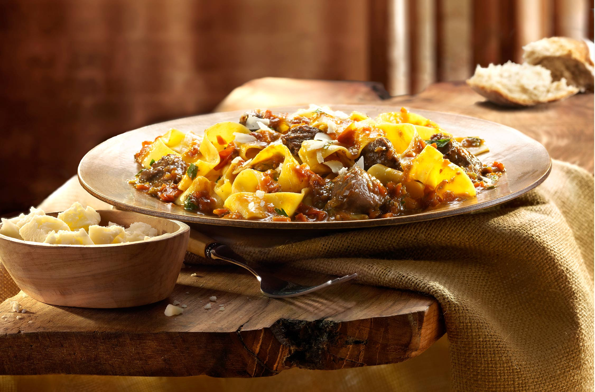 Glasshouse Assignment - David Bishop - Food Photography - Lamb Pappardelle