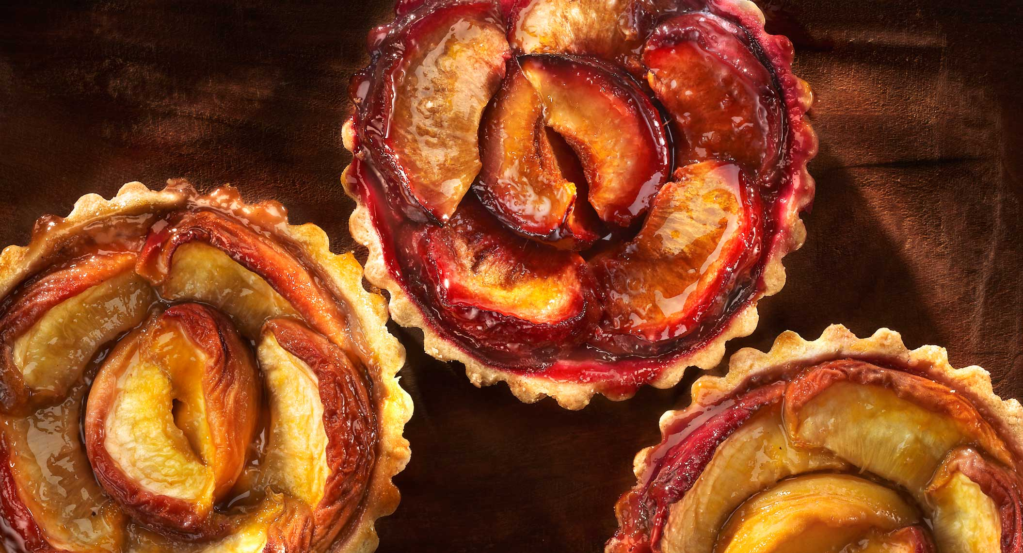 Glasshouse Assignment - David Bishop - Food Photography - Nectarine and Plum Tarts