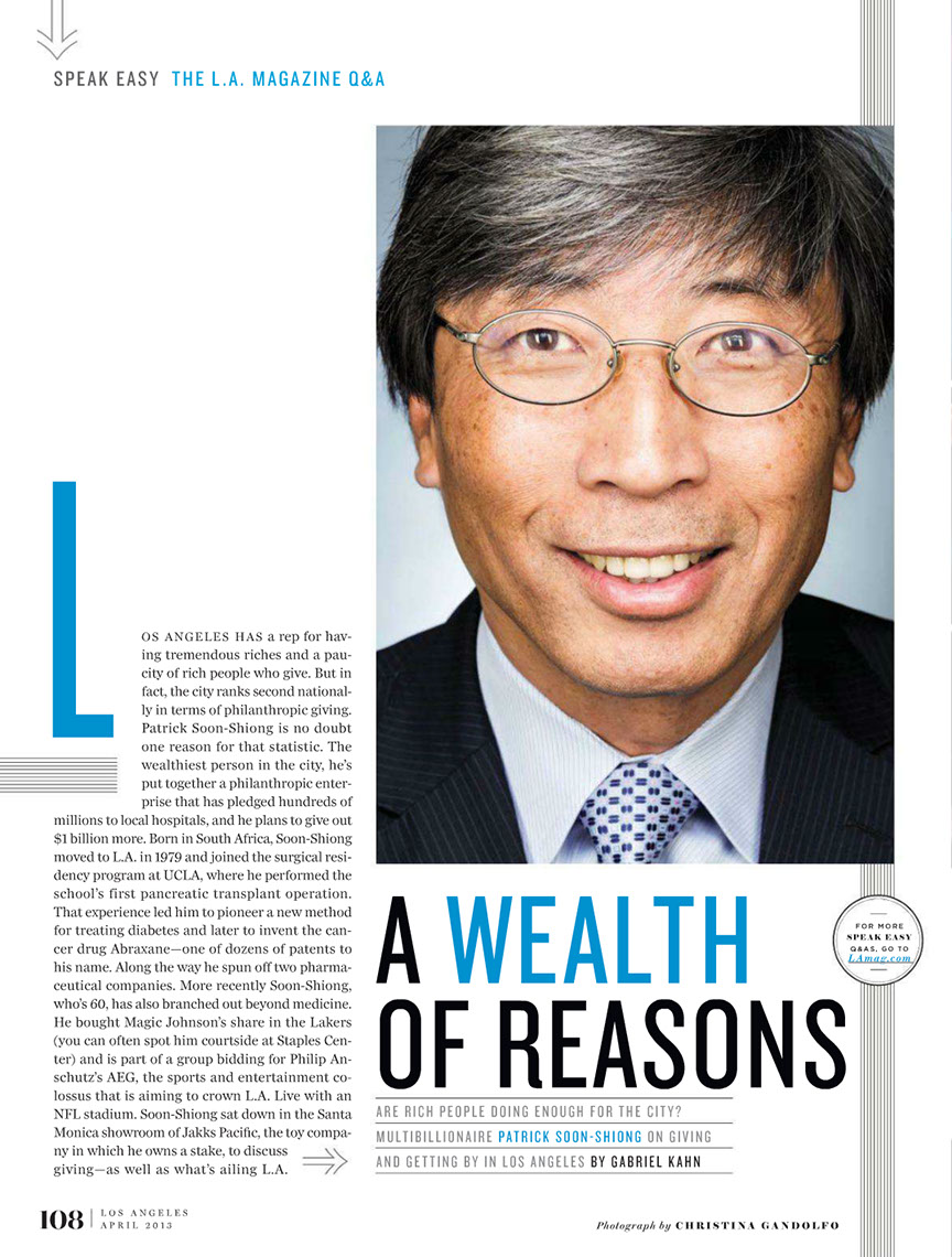Glasshouse Assignment - Christina Gandolfo - LA Magazine - Patrick Soon-Shiong