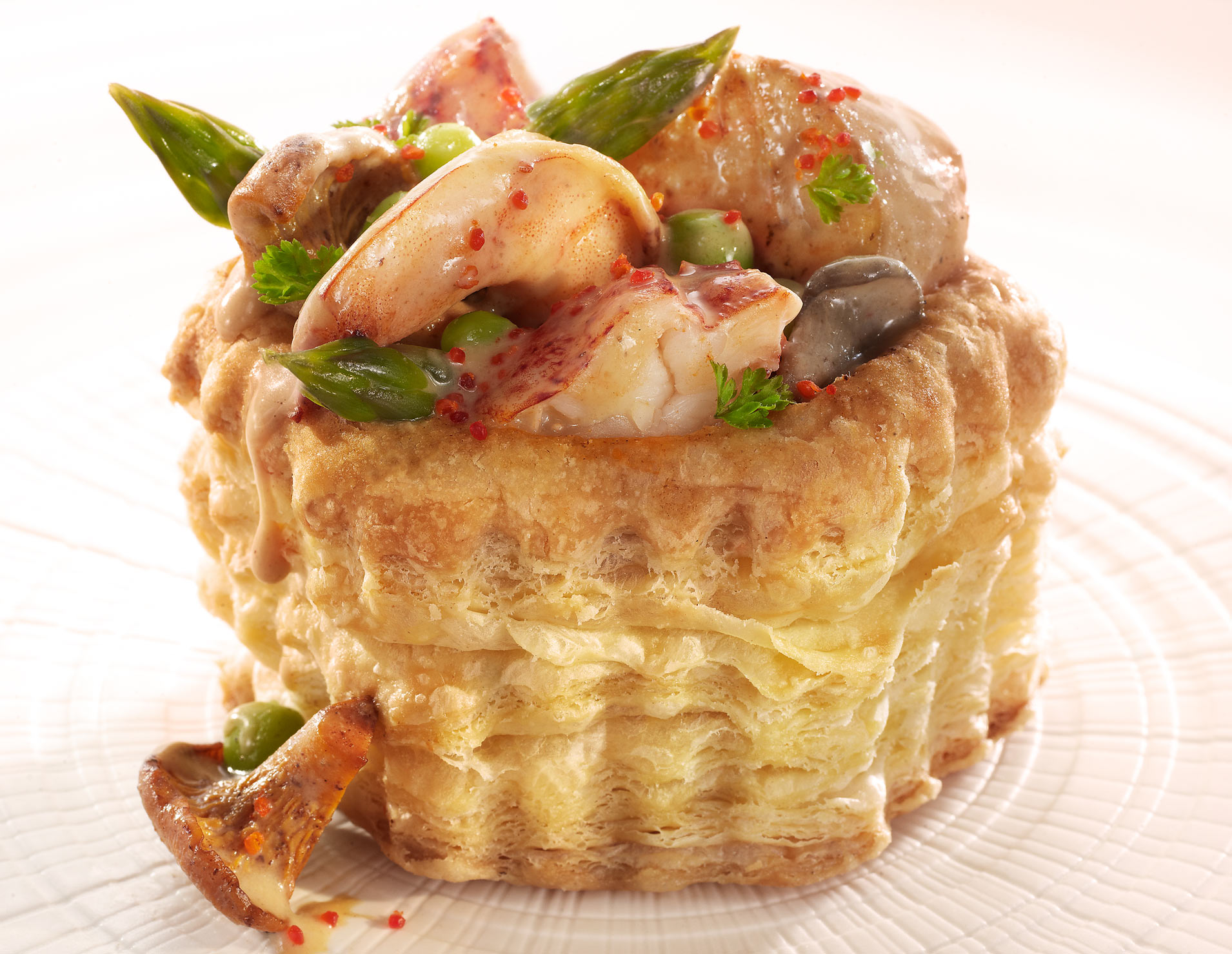 Glasshouse Assignment - David Bishop - Food Photography - Seafood Vol au Vent.