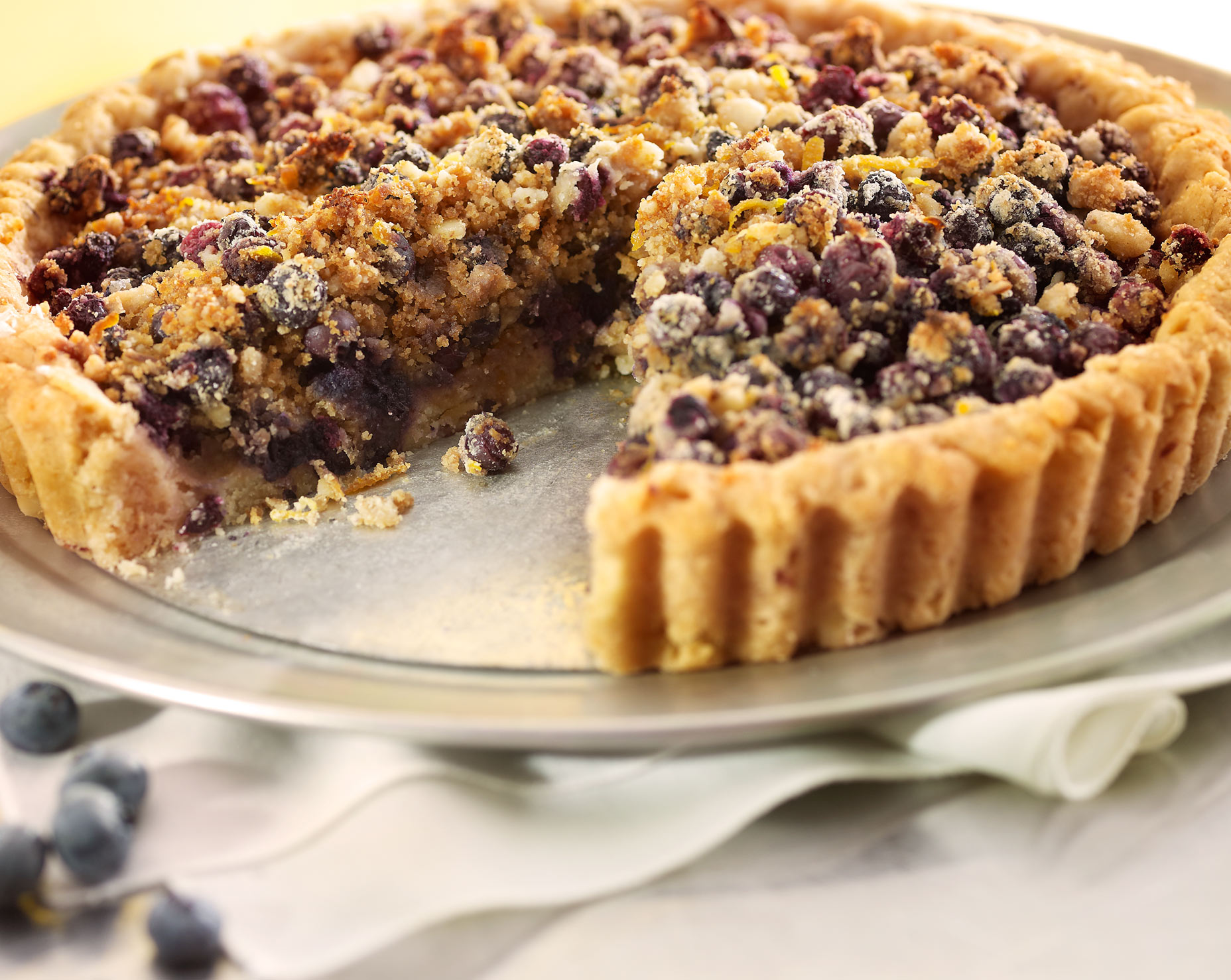 Glasshouse Assignment - David Bishop - Food Photography - Wild Maine Blueberry Linzer Tart