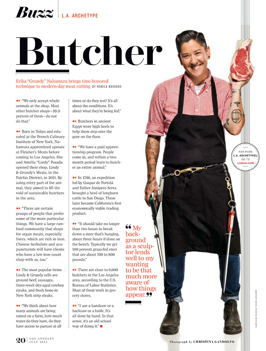 Glasshouse Assignment - Christina Gandolfo - LA Magazine - Butcher